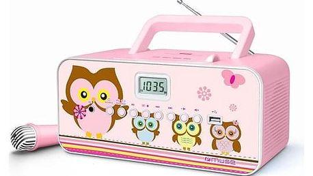 Radiopřijímač s CD MUSE M-29KP růžový