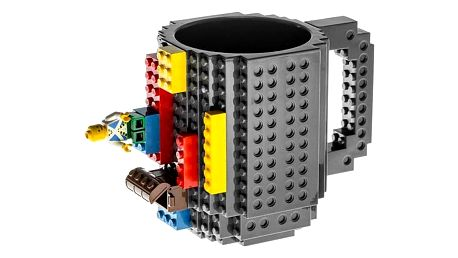 LEGO hrnek - šedá
