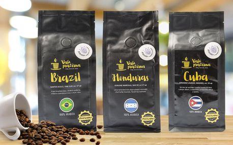 Zrnková káva z Brazílie, Kuby i Hondurasu