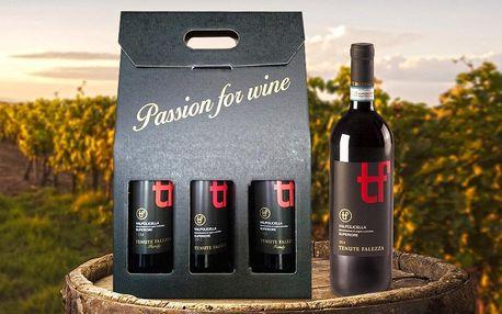 Dárkové balení tří lahví italského červeného vína