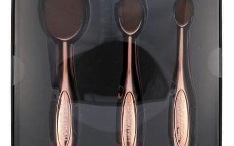 Makeup Revolution London Brushes Precision Contour dárková kazeta pro ženy kosmetický štětec na tvář 1 ks střední + kosmetický štětec na tvář 1 ks malý + kosmetický štětec na tvářenku 1 ks