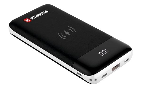 Swissten All-In-One 10000mAh, Micro USB/USB-C/Lightning, QC 3.0, Qi černá (22013927)
