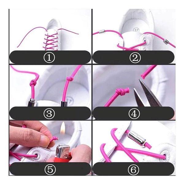 Elastické tkaničky | Melírovaná bílá3