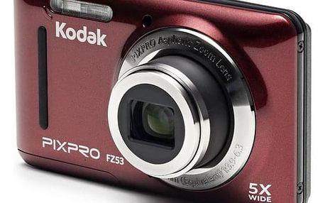 Digitální fotoaparát Kodak Friendly Zoom FZ53 červený (819900012446)