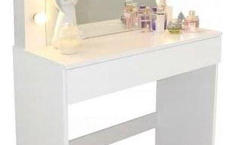 ALDO Toaletní kosmetický stolek Linda 80x40x140cm se zrcadlem
