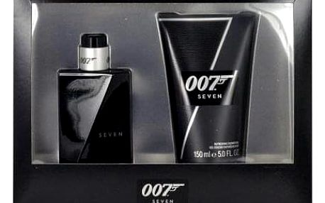 James Bond 007 Seven dárková kazeta pro muže toaletní voda 50 ml + sprchový gel 150 ml