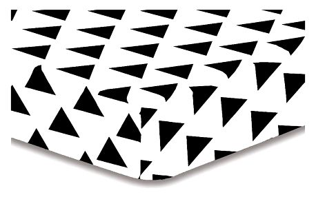 DecoKing Prostěradlo Triangles S1, 90 x 200 cm