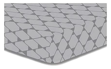 DecoKing Prostěradlo Rhombuses šedá S1, 90 x 200 cm