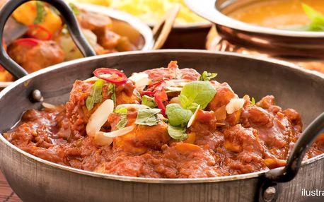 Indické menu pro 2: předkrm a hlavní jídlo