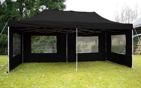 Garthen PROFI 2267 Zahradní párty stan 3x6 m černý nůžkový