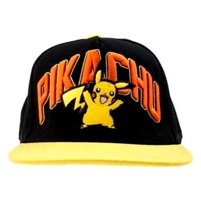 POKÉMON PIKACHU Black Snapback with Yellow Bill