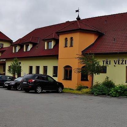 Jihlava: Hotel Tři Věžičky s pivními lázněmi