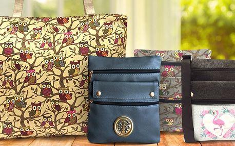 Veselé a praktické crossbody kabelky a tašky