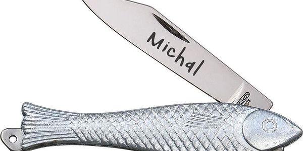 """Otevírací nůž """"Rybička"""" s rytinou vašeho textu4"""