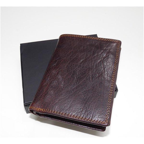 Premium Leather RFID na výšku bez zapínání | Hnědá2
