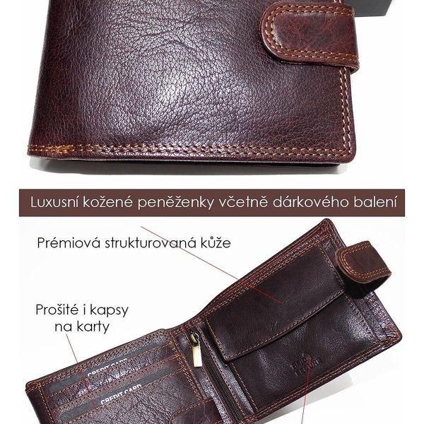 Premium Leather RFID na výšku bez zapínání | Hnědá3
