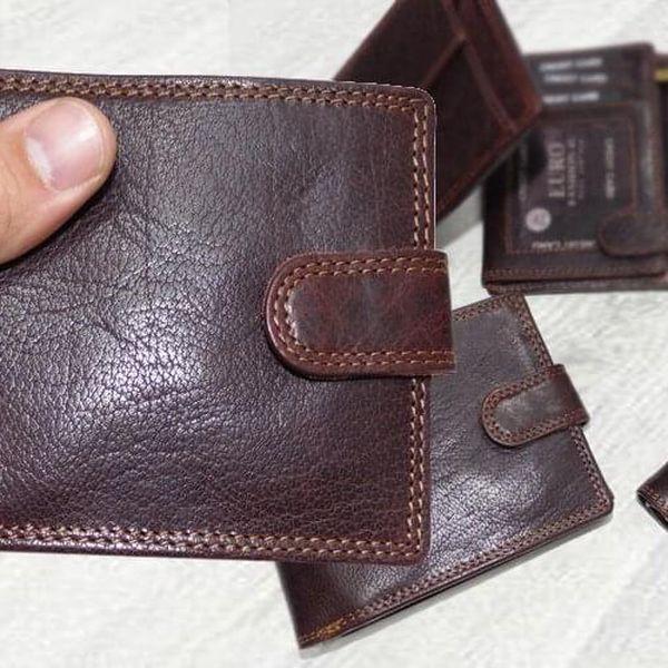 Premium Leather RFID na výšku bez zapínání | Hnědá4