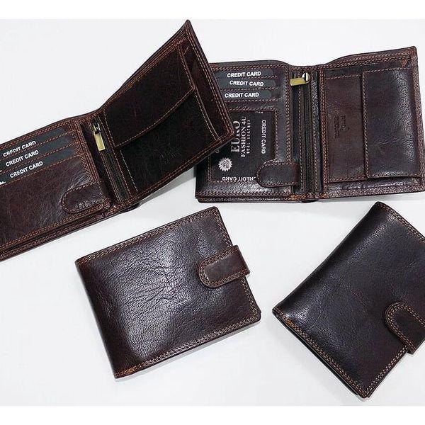 Premium Leather RFID na výšku bez zapínání | Hnědá5