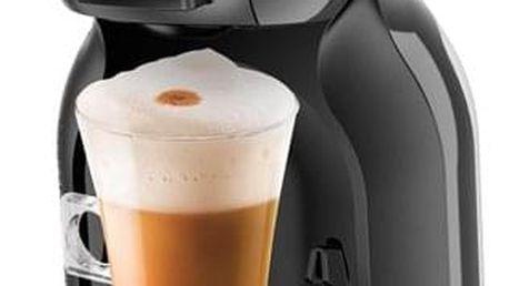 Espresso Krups NESCAFÉ Dolce Gusto Mini Me KP1208CS černé/šedé + dárek Kapsle pro espressa NESCAFÉ Dolce Gusto® Latte Macchiato kávové kapsle 16 ks v hodnotě 109 Kč