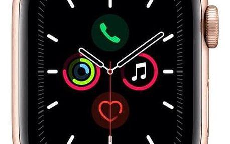 Apple Watch Series 5 GPS 40mm pouzdro ze zlatého hliníku - pískově růžový sportovní řemínek (MWV72HC/A)