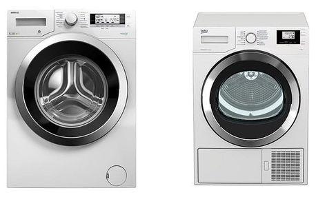 Set (Sušička prádla Beko DS7534CSRX1) + (Automatická pračka Beko Superia WMY 61243 CS PTLB1)