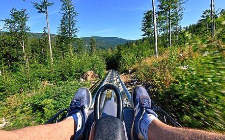 Jízdy na horské dráze, která v Česku nemá obdoby