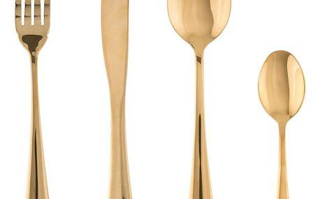 Emako Sada jídelních příborů z nerezové oceli, praktické příbory zlaté barvy v moderním stylu