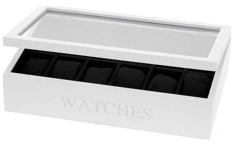 Home Styling Collection Dřevěná kazeta na hodinky WATCHES