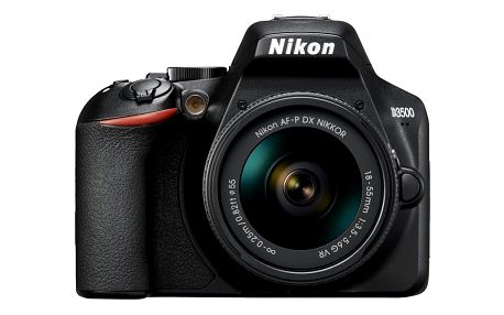 Digitální fotoaparát Nikon D3500 + 18-55 AF-P VR (VBA550K001) černý Dárkový poukaz Nikon 500 Kč