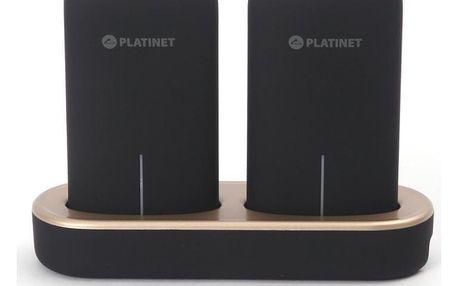 PLATINET 2x 5000 mAh + dokovací stanice černá