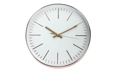 Emako Kulaté nástěnné hodiny,měděné, 30 cm
