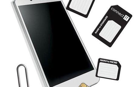 Connect IT nano/ micro/ standard SIM černé (CFF-0050-BK)