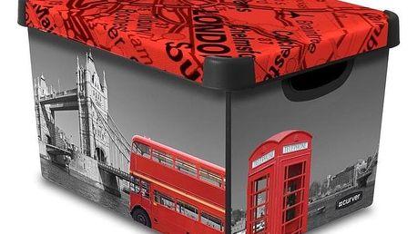 Curver L LONDON Box úložný dekorativní