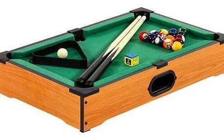 Tuin 11759 Mini kulečník pool s příslušenstvím 51 x 31 x 10 cm - světlý