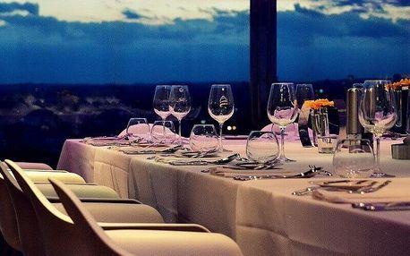 Degustační menu v Žižkovské věži s víny
