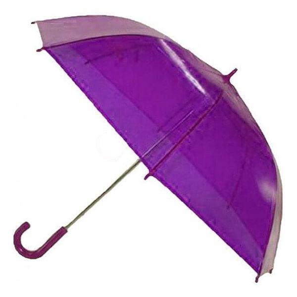 Transparentní poloautomatický deštník – oranžová5