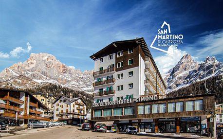 6denní Dolomiti Superski se skipasem | Hotel Cimone Excelsior*** | Doprava, ubytování, polopenze a skipas