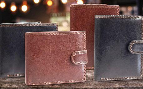 Elegantní pánské peněženky z pravé kůže