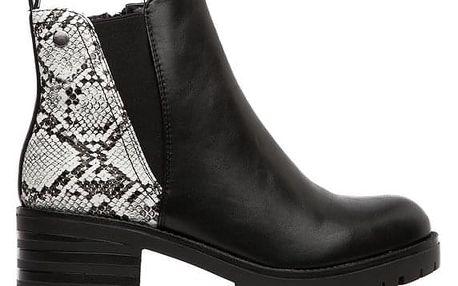 Dámské černo-bílé kotníkové boty Agueda 122
