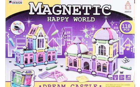 Magnetic happy world Magnetická stavebnice zámek - 118 ks