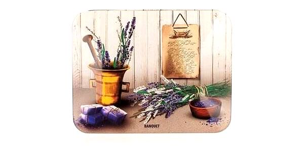 BANQUET LAVENDER Plechovka - box na čaj 24LAVRCT0023