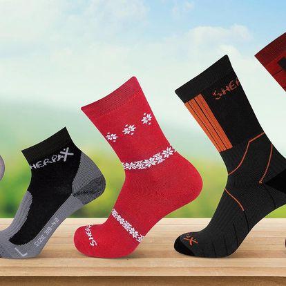 Ponožky a podkolenky SHERPAX: kompresní i zimní