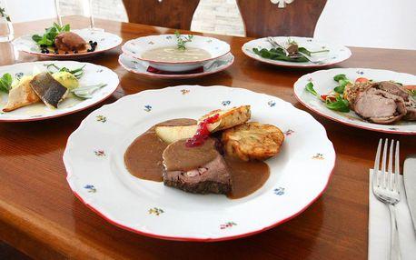 6chodové degustační menu včetně sektu pro 2 osoby