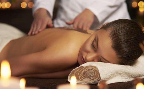 60minutová masáž dle vlastního výběru ze 4 druhů