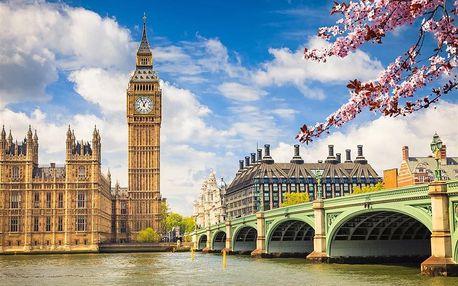 Velká Británie - Londýn autobusem na 6 dnů, snídaně v ceně