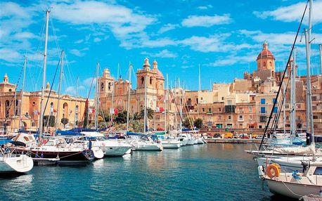 Malta letecky na 8 dnů, strava dle programu