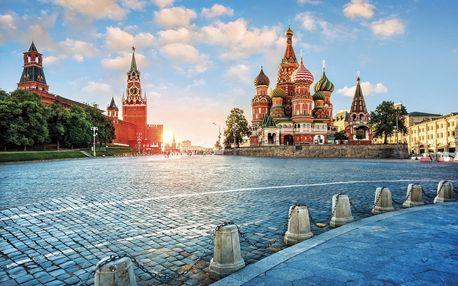 Rusko - Moskva letecky na 4 dny, strava dle programu