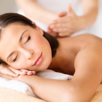 50min. relaxační masáž zad a šíje či masáž lávovými kameny