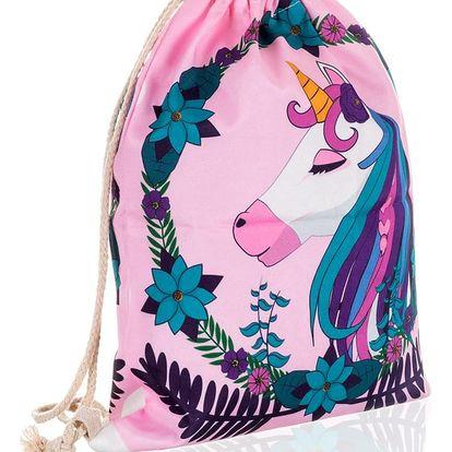 Fashion Icon Sáček na přezůvky - vak Sweet Candy růžový jednorožec