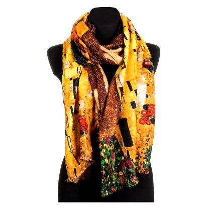 Fashion Icon Šála Gustav Klimt - Polibek